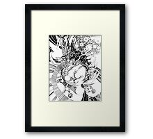 The Wobbly Triangulation Theory - Pen & Ink Illustration Art Framed Print