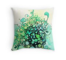 Visible Connections - Watercolor and Pen Art Throw Pillow