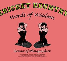 KRICKET KOUNTRY Words of Wisdom on PHOTOGRAPHERS! by Kricket-Kountry