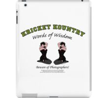 KRICKET KOUNTRY Words of Wisdom on PHOTOGRAPHERS! iPad Case/Skin