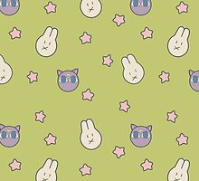 Sailor Moon R inspired Chibusa Luna-P Bedspread Blanket Print by AdrienneOrpheus