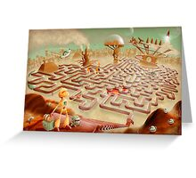 robot city maze Greeting Card