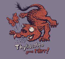 Thylacoleo goes rarr! - megafauna t-shirt Kids Clothes