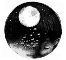 CIRCLE ART - MOON NIGHT DEER by Lambkin Shepherd