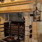 Kitchen Fireplace, Chateau de Chenonceau, France by Elaine Teague