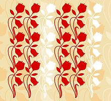 Layered Floral Silhouette Print (1 of 8 please see description) by Ra12