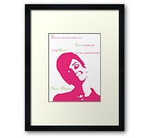 The Beautiful Audrey in Pink Framed Print