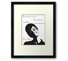 The Beautiful Audrey Framed Print