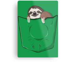Sloth in a pocket Metal Print