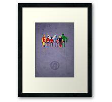 8-Bit Marvels Avengers Framed Print