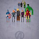 8-Bit Marvels Avengers Movie by Paulo Capdeville
