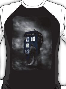 Hazy Bad Blue Police Public Call Box  T-Shirt