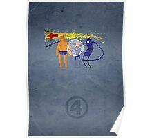 8-Bit Marvels Fantastic Four Poster