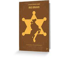No322 My Rio Bravo minimal movie poster Greeting Card