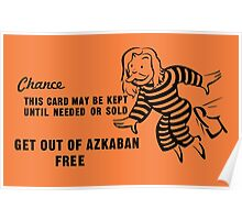 Get Out of Azkaban Free Card Poster