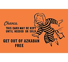Get Out of Azkaban Free Card Photographic Print