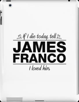 """James Franco - """"If I Die"""" Series (Black) by huckblade"""