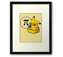 Pi-kachu v2.0(with shadows and glasses with lenses) Framed Print