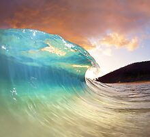 Maui Sunset Shorebreak by loveandwater