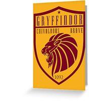 Gryffindor Crest Greeting Card