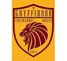 Gryffindor Crest Photographic Print