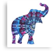 Tie Dye Elephant Canvas Print
