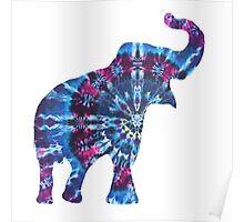 Tie Dye Elephant Poster