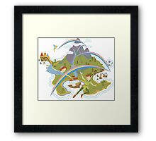 Off to Neverland!  Framed Print