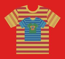 Multicolored nested stripy t shirts by Leebling