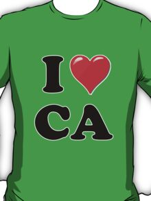 I Love CA T-Shirt