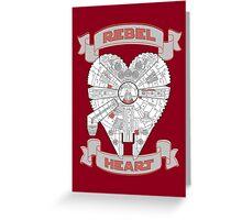 Rebel Heart - red Greeting Card
