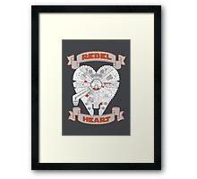 Rebel Heart - orange Framed Print