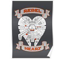 Rebel Heart - orange Poster
