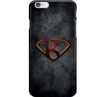 "The Letter K in the Style of ""Man of Steel"" iPhone Case/Skin"