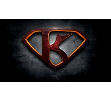 """The Letter K in the Style of """"Man of Steel"""" Photographic Print"""