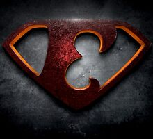 """The Letter E in the Style of """"Man of Steel"""" by BigRockDJ"""