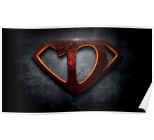 "The Letter D in the Style of ""Man of Steel"" Poster"