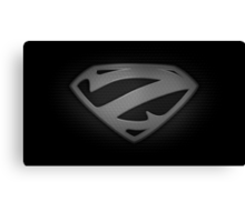 """The Letter Z in the Style of """"Man of Steel"""" Canvas Print"""