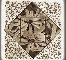 Perennial Daisy With Embossed Blends by Sandra Foster