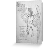 An angel's arms at Christmas Greeting Card