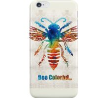 Bee Colorful - Art by Sharon Cummings iPhone Case/Skin