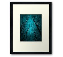 Endure the Darkness (Night Trees Silhouette Abstract 2) Framed Print