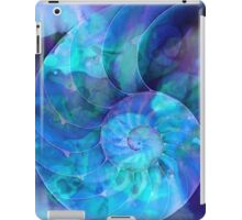 Blue Nautilus Shell By Sharon Cummings iPad Case/Skin