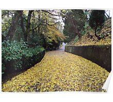 In leaves no step had trodden black Poster