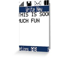 Text Message (white) Greeting Card