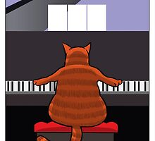 Cat at the Piano by titestreet