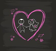 Cute Wedding Design by janeemanoo