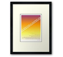 10 Tips for a Happier Life Framed Print