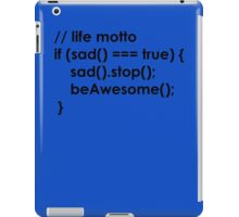 beAwesome Code Black iPad Case/Skin
