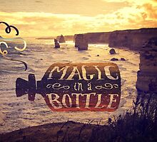 Magic in a Bottle Twelve Apostles Great Ocean Road Sunset by Beverly Claire Kaiya